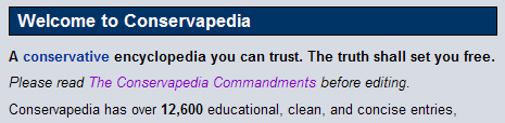 Conservapedia Mission Statement
